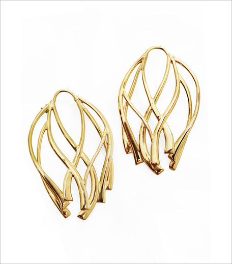 Ribbon Large Hoop Earrings_Hauterfly