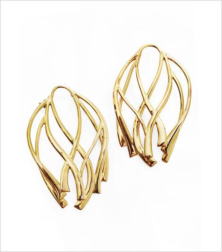 Ribbon Large Hoop Earrings_Hauterfly