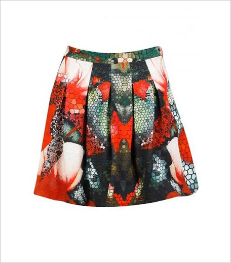 Varun Bahl Multicolour print box pleated skirt_Hauterfly