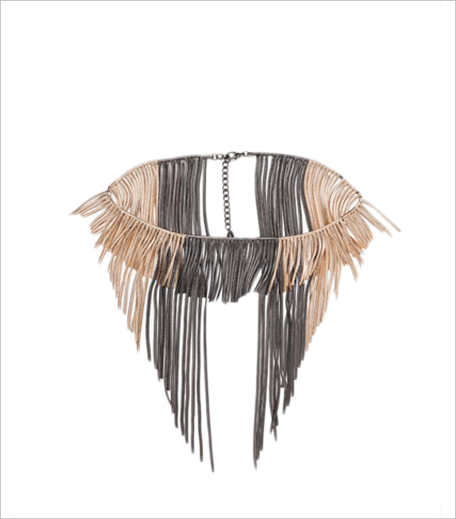 Zara TWO-TONE SHORT AND LONG CHAIN NECKLACE_Hauterfly
