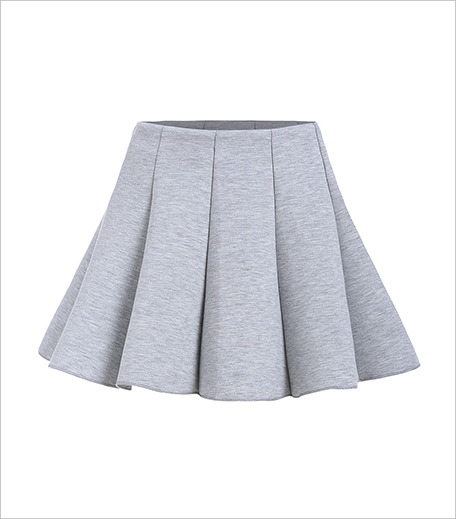 Zooomberg Zipper Flare Grey Skirt_Hauterfly