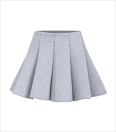 Zooomberg Zipper Flare Grey Skirt_Hauterfly