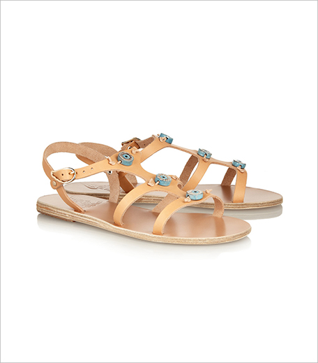 ANCIENT GREEK SANDALS Eyes ceramic-embellished leather sandals_Hauterfly