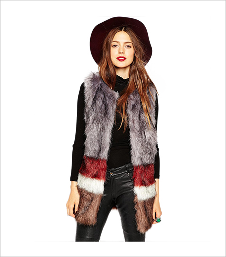 ASOS Faux Fur Gilet in Stripe_Hauterfly