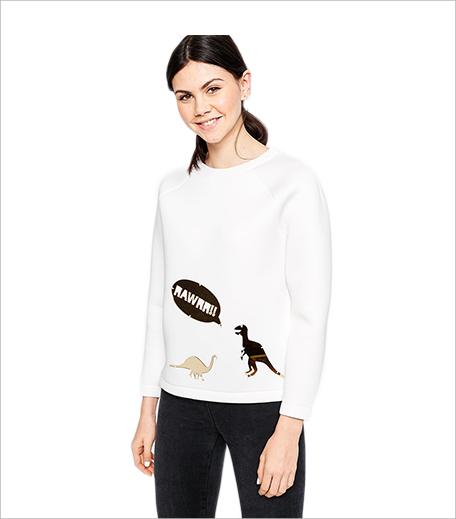 ASOS x G.F HAWTHORNE Sweatshirt With Perspex 3D Dinosaur Embellishment_Hauterfly