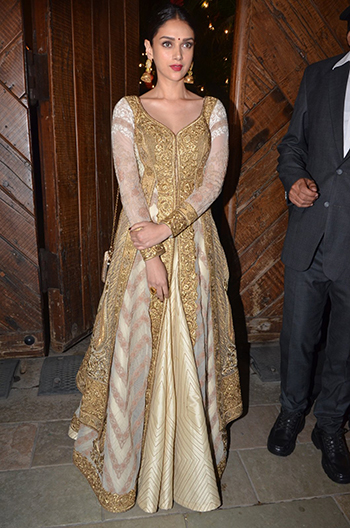 Aditi Rao Hydari at the Bachchan's Diwali party.