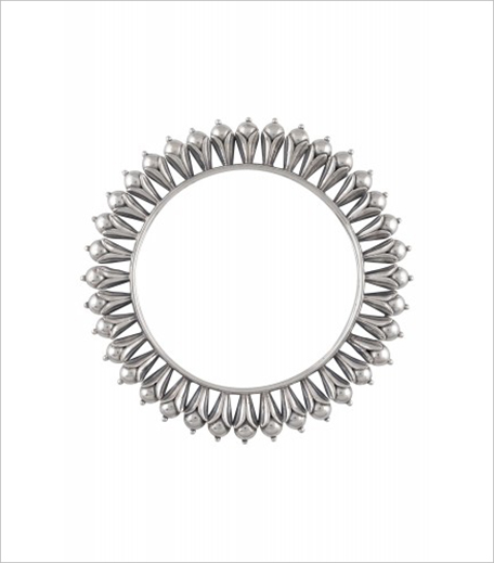 Amrapali Silver Rawa Ball Floral Motif Bangle_Hauterfly