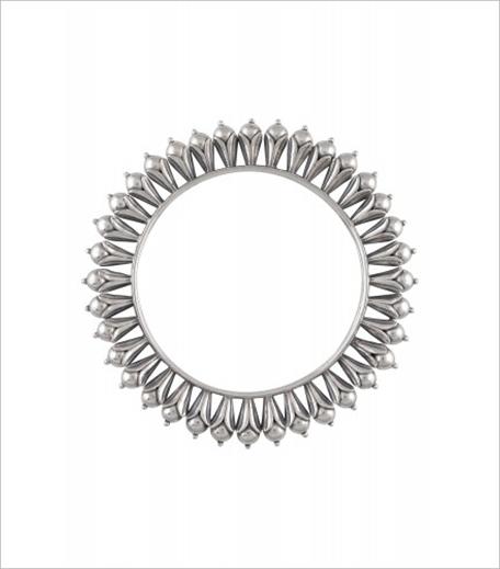 Amrapali Silver Rawa Ball Floral Motif Bangle_Hauterfly