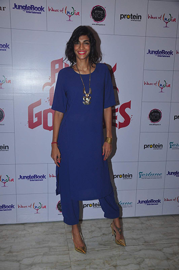 Wearing a tunic from Lovebirds, Anushka Manchanda attended a press meet.