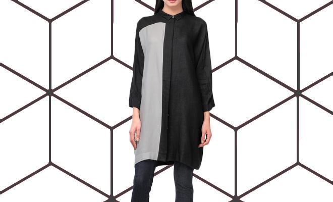Bodice Shirt Dress Ogaan_Lead Hauterfly