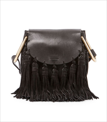 Chloé Hudson Mini Fringe Shoulder Bag, Black_Hauterfly