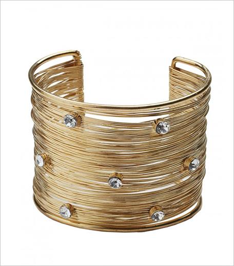 Crishma Golden Mesh Bracelet with Crystal Stone_Hauterfly