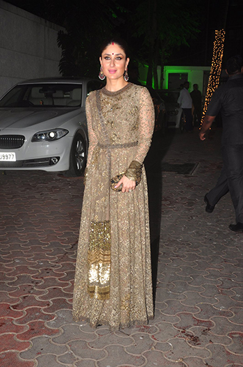Kareena Kapoor at the Shilpa Shetty Diwali bash.