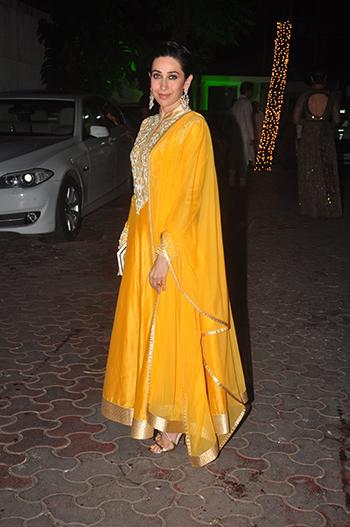Karisma Kapoor at the Shilpa Shetty Diwali bash.