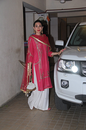 Karisma Kapoor at the Saif-Kareena Diwali party.