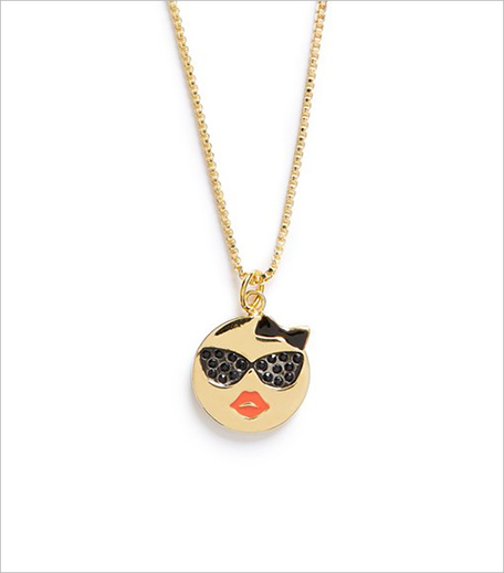 Kate Spade 'tell all' emoji pendant necklace Nordstrom_Hauterfly