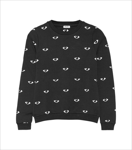Kenzo Eye-print cotton-fleece sweatshirt_Hauterfly