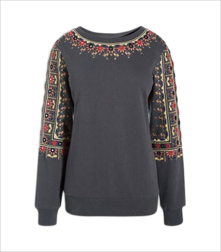 NEXT Grey Embroidered Folk Sweatshirt_Hauterfly