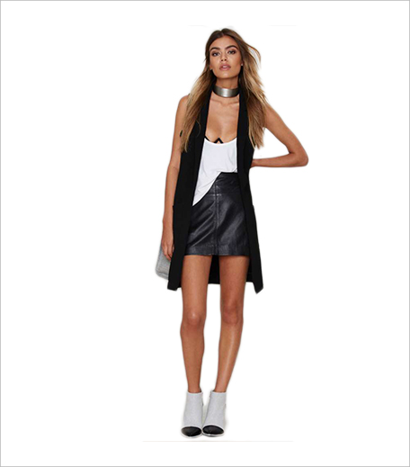 Nasty Gal Fallin' For You Vest Black _Hauterfly