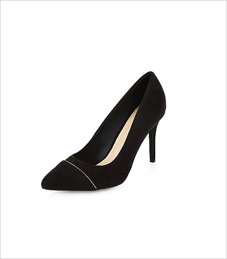 New Look Black Comfort Metal Trim Pointed Heels_Hauterfly