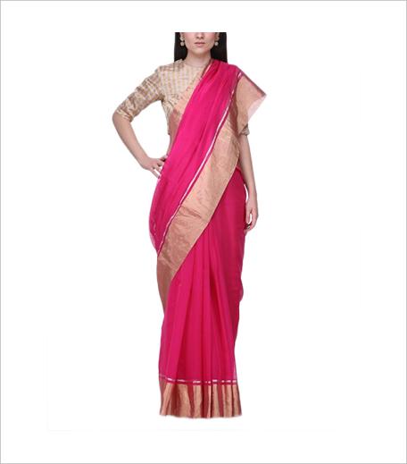 Raw Mango Bright Rangeen Sari (Rs 6,500)