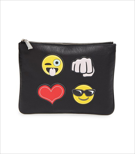 Rebecca Minkoff 'Crazy' Emoji Sticker Set & Clutch Nordstrom_Hauterfly