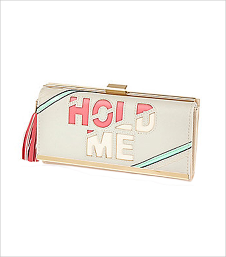 River Island Light grey slogan cliptop purse_Hauterfly