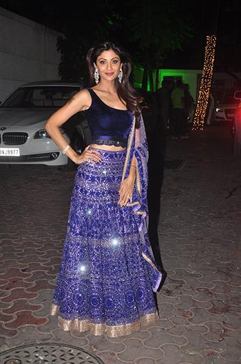 Shilpa Shetty Kundra at her Diwali bash.
