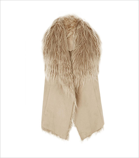 Warehouse Neutral Waterfall Faux Fur Gilet_Hauterfly