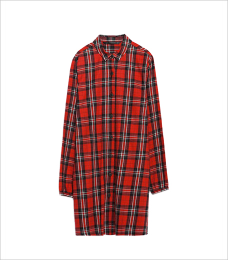 Zara Check Dress_Shirt Dress Hauterfly