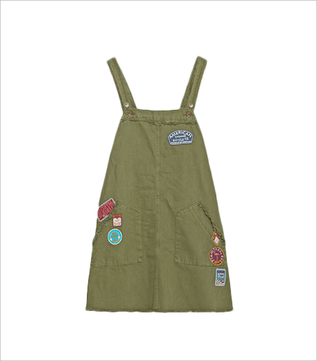 Zara Patch Pinafore Dress _Hauterfly