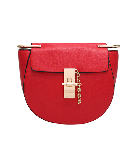 Zooomberg Red Key Buckle Semicircle PU Shoulder Bag_Hauterfly
