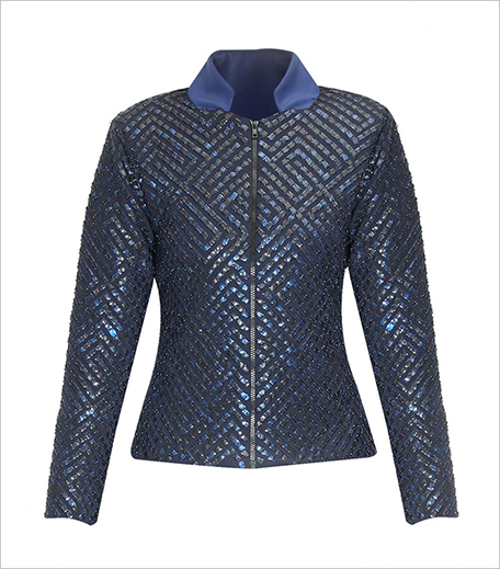 Anand Bhushan Blue sequins embellished jacket_hauterfly