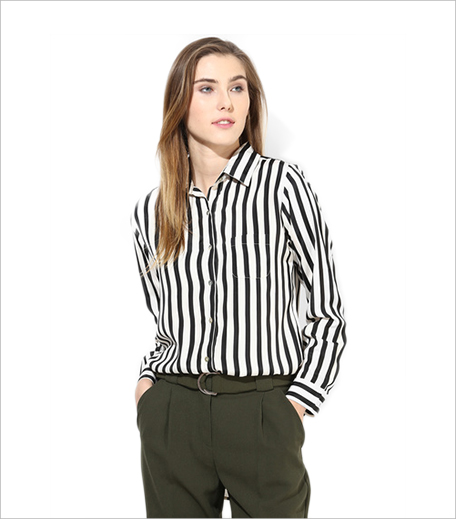 Cinnamon Black Striped Shirt Jabong_Hauterfly
