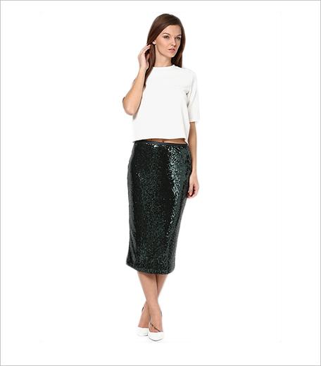 Dorothy Perkins Green Pencil Skirt_Hauterfly