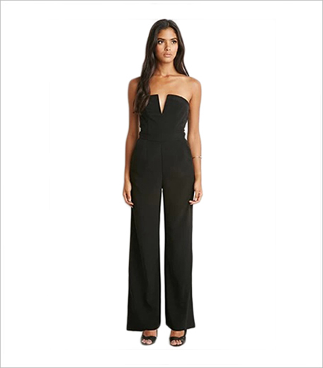 Forever 21 V-Notched Strapless Jumpsuit_Hauterfly_Hauterfly