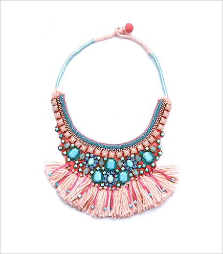 Hemant And Nandita Baby Pink And Blue Stones Neckpiece_Hauterfly