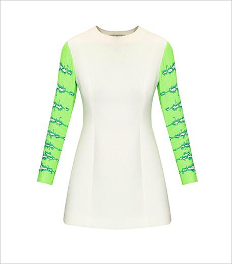 Huemn White and mint sequinned snake dress_Hauterfly