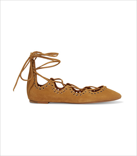 Isabel Marant Leo lace-up embellished suede ballet flats_Hauterfly