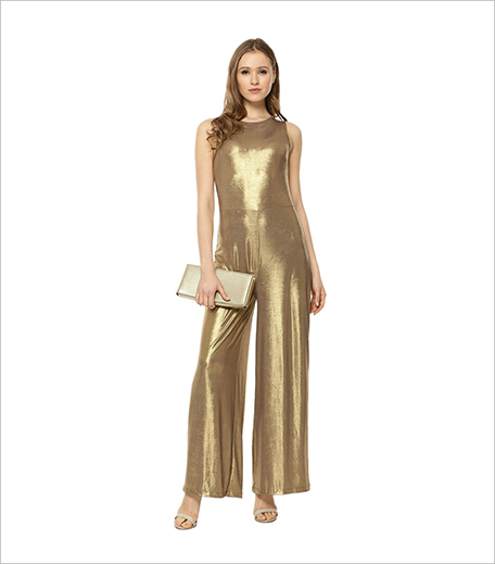 KOOVS Metallic Flared Jumpsuit In The Style Of Gigi Hadid_Hauterfly