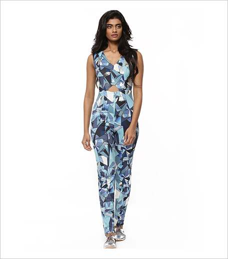 Koovs PANKAJ & NIDHI FOR KOOVS Broken Glass Print Structured Jumpsuit_Hauterfly