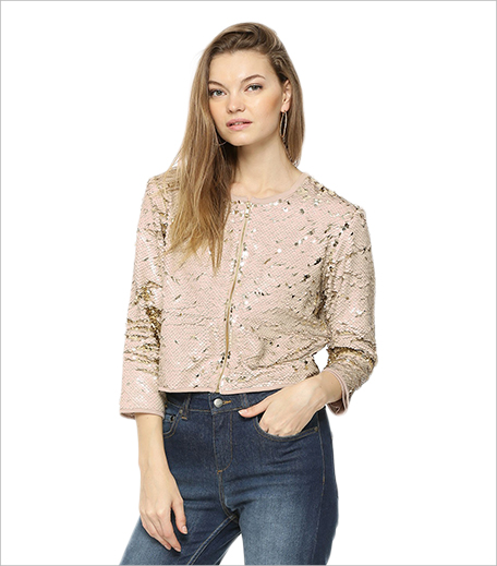 Koovs RENA LOVE All Over Two Way Sequined Jacket_Hauterfly