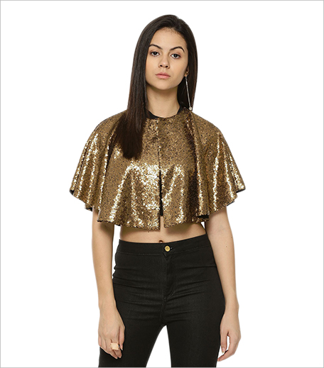 Koovs RIDRESS All Over Sequined Cape Jacket_Hauterfly