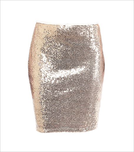Limeroad gold polyester sequined skirt_Hauterfly