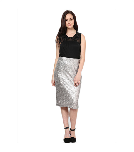 Lola Skye Grey Pencil Skirt Jabong_Hauterfly