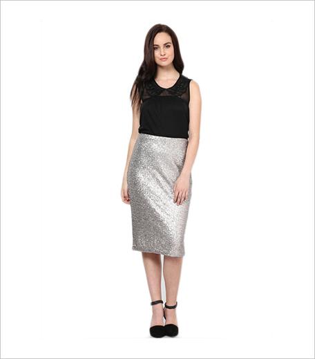 Lola Skye Grey Pencil Skirt Jabong_Hauterfly