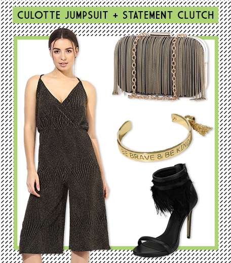 Look 3 Culotte Jumpsuit + Statement Clutch_Hauterfly