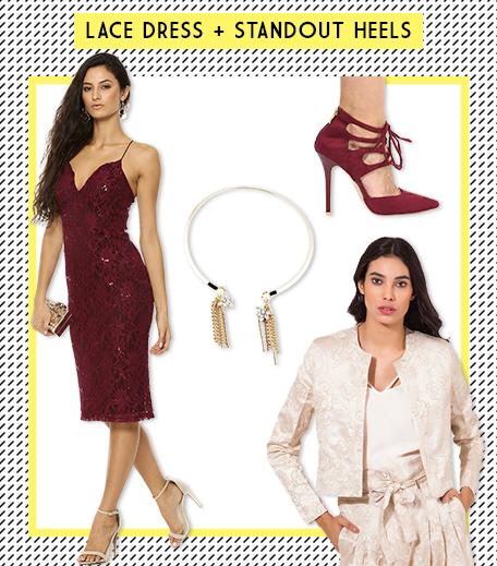 Look 4 Lace Dress + Standout Heels_Hauterfly
