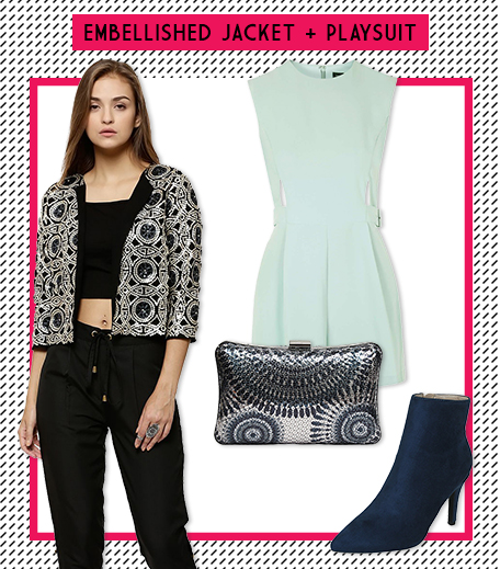 Look 5 Embellished Jacket + Playsuit_Hauterfly