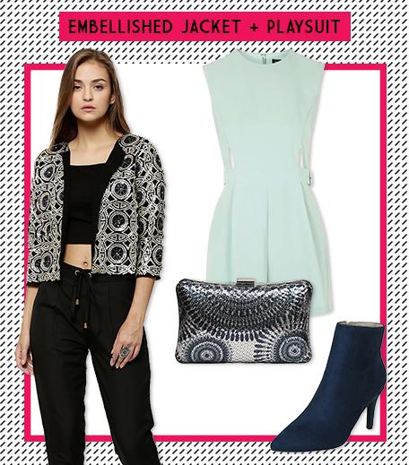 Look 5 Embellished Jacket + Playsuit_Hauterfly